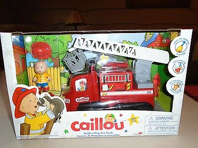 PBS CAILLOU FIRE TRUCK Figure SOUND LIGHT Boys & Girls 3-5 Yrs New in Box