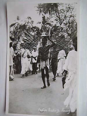 MALAYSIA...RP POSTCARD....INDIAN FESTIVAL...PENANG...1930`s