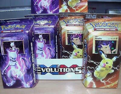 Pokemon Evolutions Theme Deck: 60 Cards, Coin, Playmat: Choose Pikachu or Mewtwo