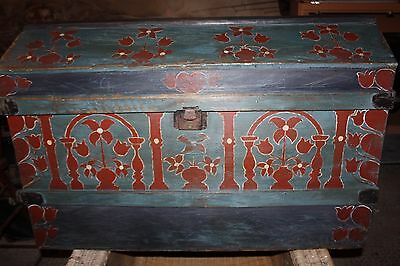 Antique chest hand painted