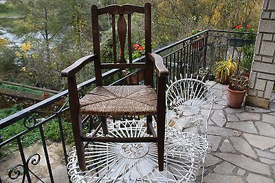 Antique child's rush chair