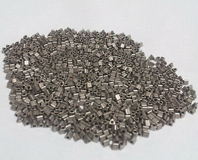 11/0 Pewter Gray Silver Matte Triangle Toho Seed Beads