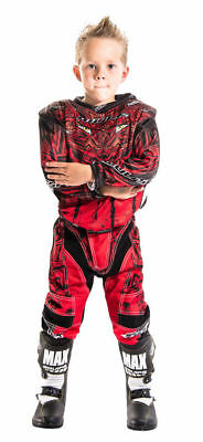 New Wulfsport Red Kids Motocross Pants Jersey Trousers Youth Child Quad Shirt