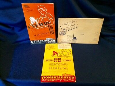 1939 New York World's Fair Consolidated Sewing Machine & Cabinet Co NY