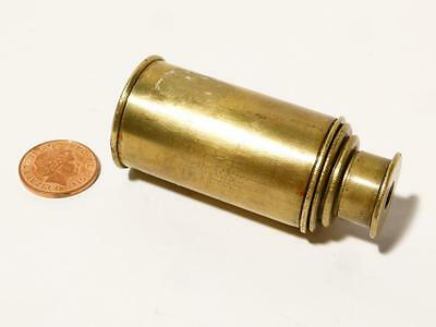 "Antique 3 Draw Miniature Brass Telescope 2 and 1/2 inch long Closed 6"" Open #"