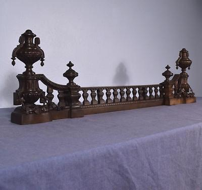 *Antique French Louis XVI Bronze Chenet Andirons Fireplace Set