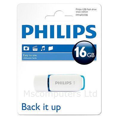 Philips 16GB USB Flash Drive Snow Edition USB 2.0 High Speed USB Stick