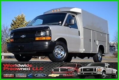 2008 Chevrolet Express Enclosed Utility Van 08 Chevrolet Express Cutaway Enclosed Utility Van 6.0L Vortec Gas Chevy GMC Used