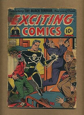 Exciting Comics 46 (PR+) Better 1946 Golden Age Black Terror Crime (c#11800)
