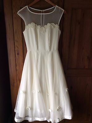 Collectif Vintage Ivory Wedding Dress size 8