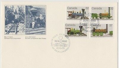 Nice Canada FDC with 4 attractive train stamps and cancel