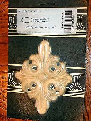 """New Wood Ornamental Moulding 2 Sets Of 1 Total 2- French Cross 5"""" Tall"""