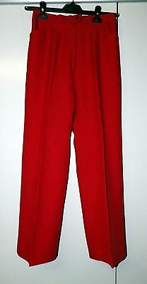 Vintage 40's Gorray Bright Red Trousers Size UK 10