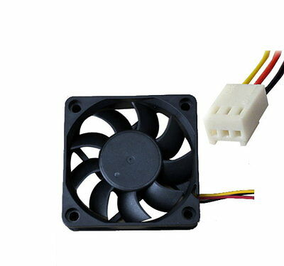 Case 3 Pin 12V Computer Cooling Cooler 60x60x15mm Fan PC Black C - UK SELLER