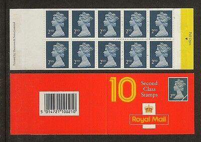 GB Stamps: Decimal Machin Barcode Booklet HC3.