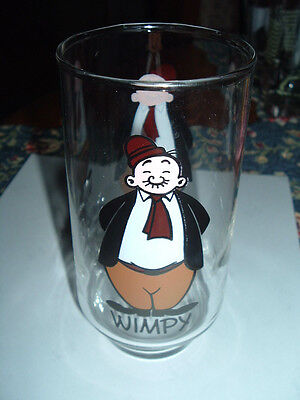 1975 Wimpy Coca Cola Drinking Glass King Features Kollect A Set Series