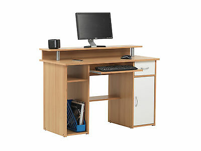 Brand New Alphason Albany Home Office Computer Desk / Workstation  - Beech