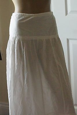 Victorian/Edwardian Cotton Petticoat with Lace
