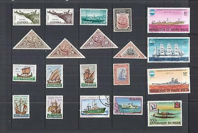 x9950 Thematics / Boats/ A Small Collection Early & Modern Lhm & Used