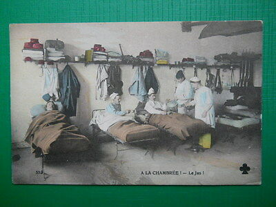 Vintage French, Military Humour Postcard, probably pre-WW1