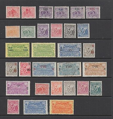 French Guiana 1915 - 1928 collection 30 stamps MH , fine used