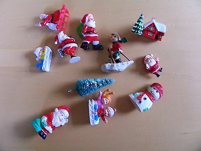 Vintage Selection of Festive Christmas Cake Toppers in Nice Condition.