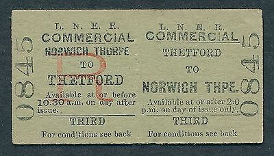 AN1610d LNER 3rd cl Commercial Thetford - Norwich Thorpe