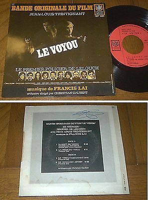 """RARE French EP BOF OST 45t BIEM (7') """"LE VOYOU"""" (1970)"""