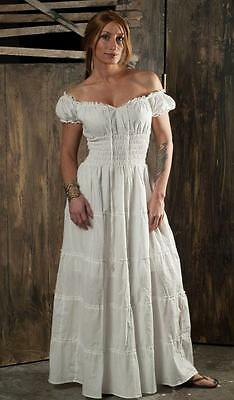 RENAISSANCE COSTUME MEDIEVAL CLOTHING PEASANT PIRATE WENCH BOHO DRESS SALE Cd12