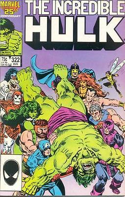 Incredible Hulk 322 From 1986 - Vs The Avengers