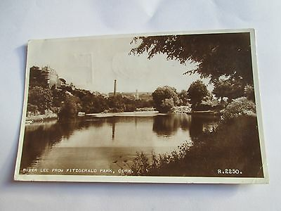Postcard of River Lee from Fitzgerald Park, Cork R2250 posted 1955 Valentine's