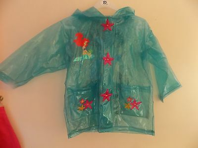 Girls age 3-4 years Disneys green sparkle Little Mermaid rain coat