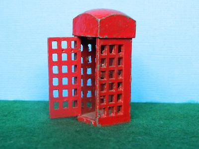 Charbens Vintage 1955 Diecast Rare Red Telephone Box Opening Door
