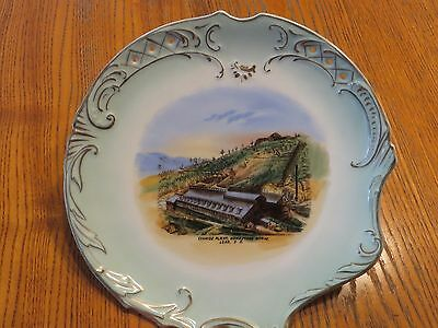 ANTIQUE souvenir china CYANIDE PLANT HOMESTAKE WORKS LEAD S.D. SD Hearst NICE