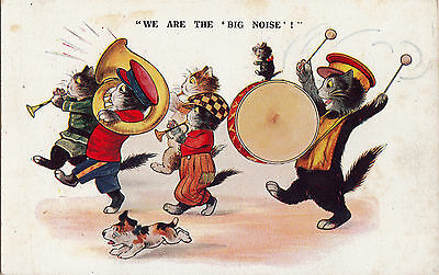 We Are The Big Noise  Comique Dressed Cat Humour  Music Band