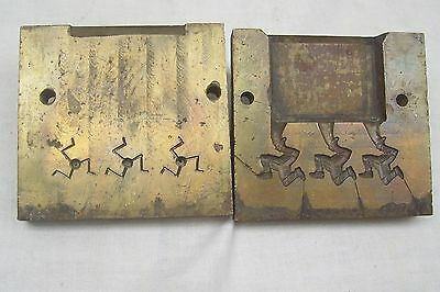 Vintage Brass Mould For 3 IOM Isle Of Man Manx Symbols - Possibly For Badges