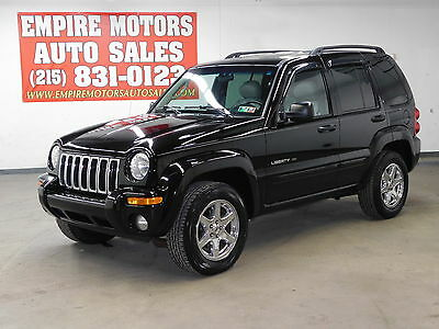 2003 Jeep Liberty Limited Sport Utility 4-Door 03 Jeep Liberty Limited 4WD Only 89K Miles! Leather! 3.7l 6CYL 4X4 NO RESERVE
