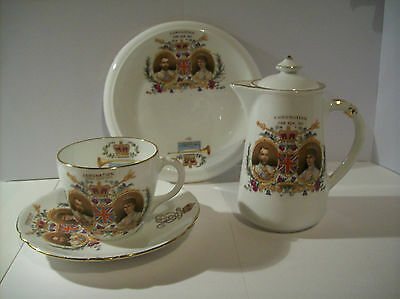 Coronation Coffee Set  By Foley / Shelly For George V & Queen Mary  22 June 1911