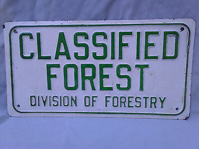 Classified Forest Division of Forestry Sign Steel Antique National  Park DNR VTG