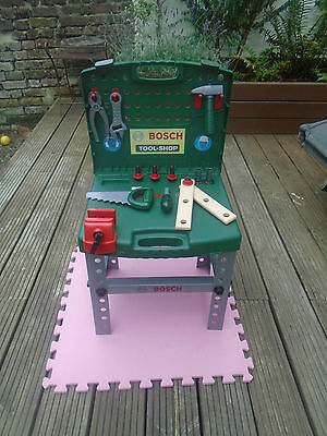 Bosh Toy 'tool-Shop' / Workbench - With Tools/accessories - Folding Storage Case