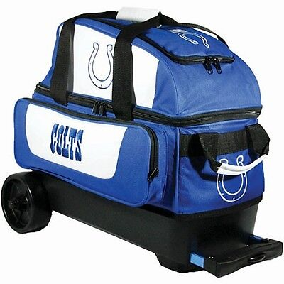 NFL Indianapolis COLTS 2 Ball Roller Bowling Bag with Wheels