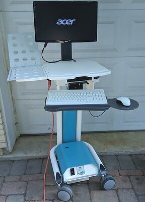 Naware Ls17 Medical Mobile Laptop Pc Electric Battery Powered Motorized Cart