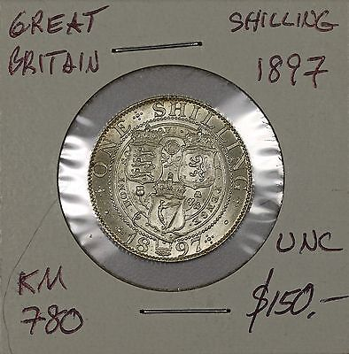 Great Britain Shilling 1897. Uncirculated. KM 780