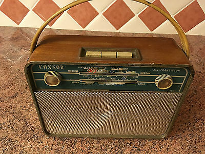 Cossor Vintage Early Transistor Radio,c.1960,Reasonable Condition,Working on MW