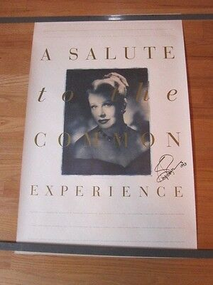 GINGER ROGERS Salute to the Common Experience film fest AUTOGRAPHED poster 1993