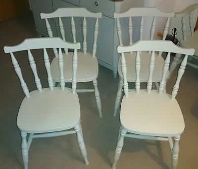 Hand Painted  Solid Beech Dining Chairs(Painted In The Colour Of French Gray)F&b