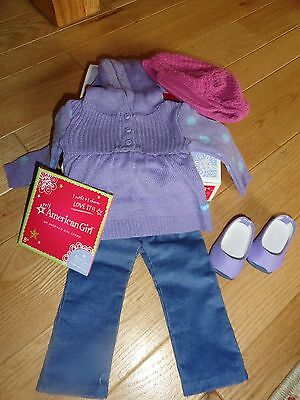American Girl Myag Casual Chic Outfit + Charm New In Box Retired