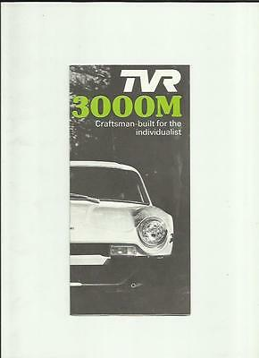 Tvr 3000M Car Sales Brochure October 1976 For 1977 Model Year