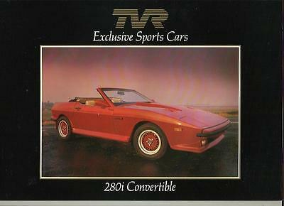 TVR 280i CONVERTIBLE SALES BROCHURE MID/LATE 80'S