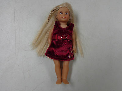 American Girl Doll Authentic Mini Doll  Julie     6.5    Inch  Dress   No Shoes